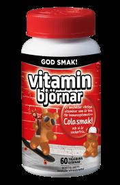 Active Care Vitaminbjörnar multivitamin med colasmak