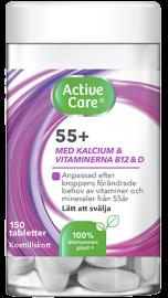 Active Care 55+ kosttillskott i burk gjord i återvunnen plast