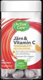 Active care kosttillskott Järn och Vitamin C