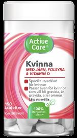 Active Care multivitamin kosttillskott Kvinna med järn, folsyra och vitamin D