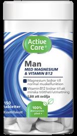 Active Care Man kosttillskott med magnesium och vitamin B12