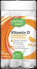 Active Care kosttillskott tuggtablett med vitamin D 10 ug